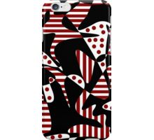 Red, black and white abstraction iPhone Case/Skin