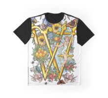 The Illustrated Alphabet Capital W (Fuller Bodied) from THE ILLUSTRATED MAN Graphic T-Shirt