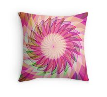 Flower in motion Throw Pillow