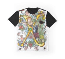 The Illustrated Alphabet Capital X (Fuller Bodied) from THE ILLUSTRATED MAN Graphic T-Shirt
