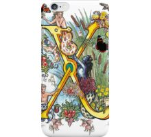 The Illustrated Alphabet Capital X (Fuller Bodied) from THE ILLUSTRATED MAN iPhone Case/Skin