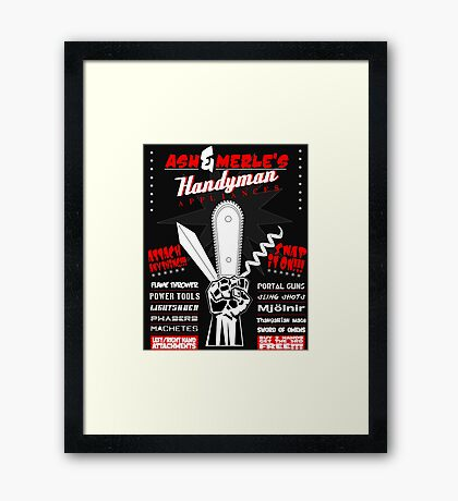 Ash & Merle's Handyman Appliances Framed Print