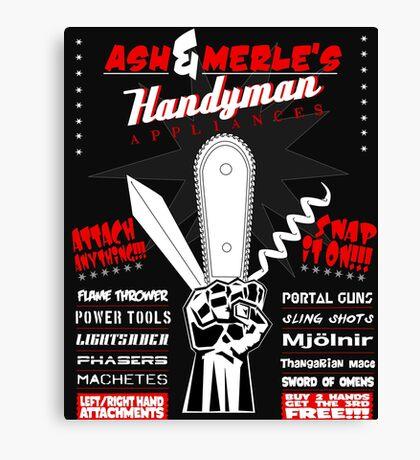 Ash & Merle's Handyman Appliances Canvas Print
