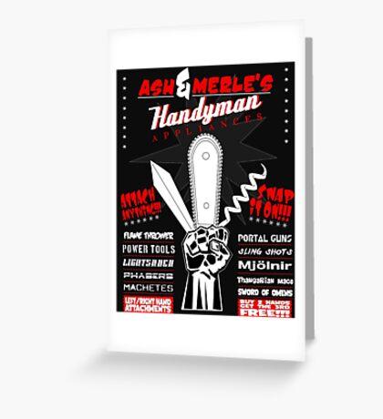 Ash & Merle's Handyman Appliances Greeting Card