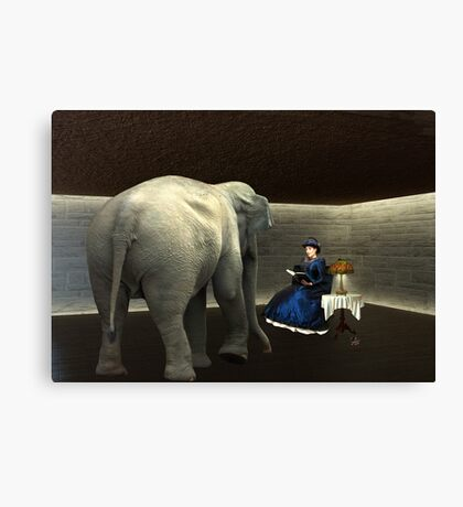 The Elephant In The Room... Canvas Print