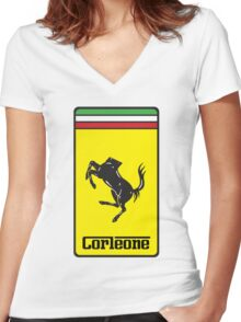 Corleone Women's Fitted V-Neck T-Shirt