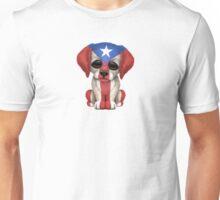 Cute Patriotic Puerto Rico Flag Puppy Dog Unisex T-Shirt