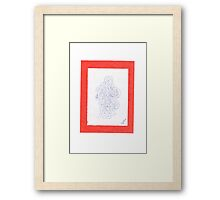 0809 - Orange Elegance Framed Print