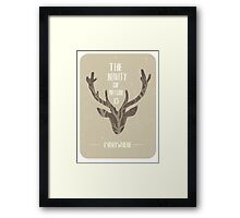 The beauty of nature is everywhere Framed Print