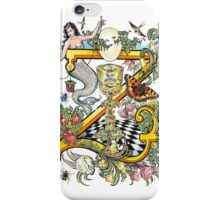 The Illustrated Alphabet Capital Z (Fuller Bodied) from THE ILLUSTRATED MAN iPhone Case/Skin
