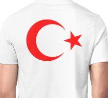 RED, CRESCENT MOON, & Star, TURKEY, Crescent Moon, Flag of Turkey, Turkish Flag, Star, Pure & Simple, Unisex T-Shirt