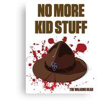"The Walking Dead ""No More Kid Stuff"" Canvas Print"
