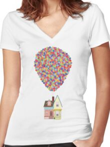 Balloons Women's Fitted V-Neck T-Shirt