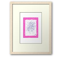 0810 - Pink And Strong Framed Print