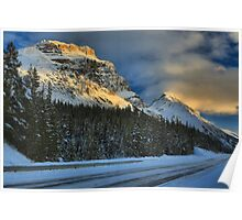 Icefields Parkway Sunset Poster