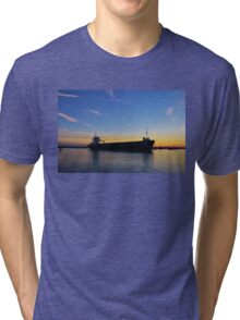 Cargo Ship Leaving The Swale Tri-blend T-Shirt