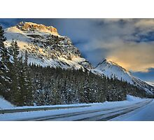 Banff Mountains Sunset Photographic Print