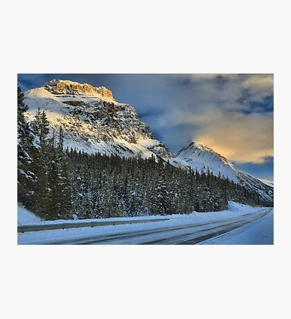 Banff Mountains Sunset Photographic Print