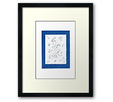 0813 - Blue like the Ocean Framed Print