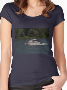 Small Cabin Cruiser Women's Fitted Scoop T-Shirt