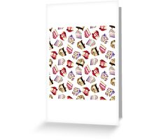 Cake Pattern Greeting Card