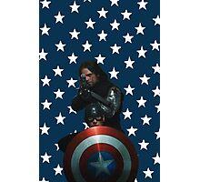 Bucky and Cap Photographic Print