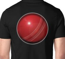CRICKET, Cricket Ball, hard ball, Sport, Sporting, Game, on BLACK Unisex T-Shirt