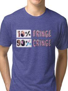 Dan and Phil - 10% fringe 90% cringe Tri-blend T-Shirt