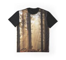 Misty forest sunrise Graphic T-Shirt