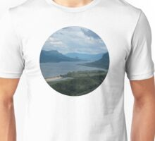 The Columbia River Gorge From The Vista House Unisex T-Shirt
