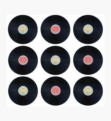 Schallplatten - Retro Photographic Print