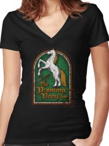 The Prancing Pony Women's Fitted V-Neck T-Shirt