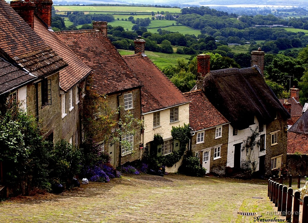 Gold Hill - Dorset by naturelover