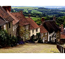 Gold Hill - Dorset Photographic Print
