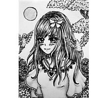 Im Blumental - Manga girl Photographic Print