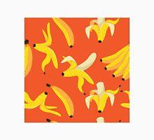 Bright yello bananas on orange background. Unisex T-Shirt