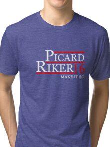 PICARD RIKER 2016 for President T-Shirt Tri-blend T-Shirt