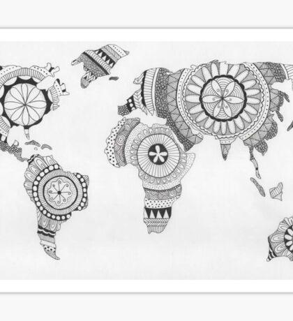 Explore the World Mandala Sticker