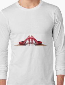 Red High Heels Long Sleeve T-Shirt