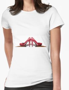 Red High Heels Womens Fitted T-Shirt