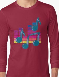 Music Notes 80s Long Sleeve T-Shirt