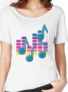 Music Notes 80s Women's Relaxed Fit T-Shirt