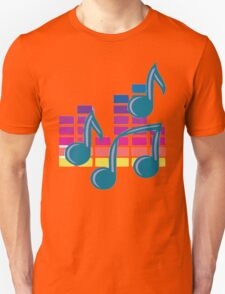 Music Notes 80s Unisex T-Shirt
