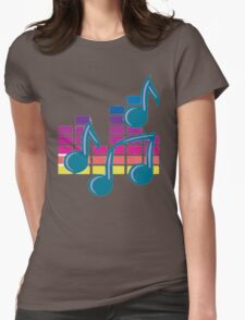 Music Notes 80s Womens Fitted T-Shirt