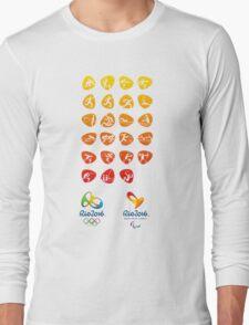 Pictogram rio 2016 Long Sleeve T-Shirt
