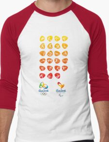 Pictogram rio 2016 Men's Baseball ¾ T-Shirt