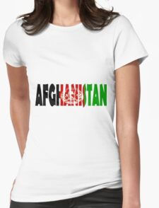 Afghanistan Womens Fitted T-Shirt