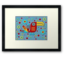 Toucan, bird, birdy, colorful, vector, shapes Framed Print