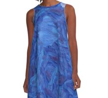 An abstract Brush Strokes design A-Line Dress