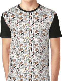 Ghibli Collage Graphic T-Shirt